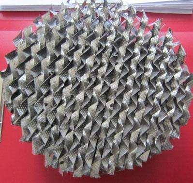 金属孔板波纹填料组装